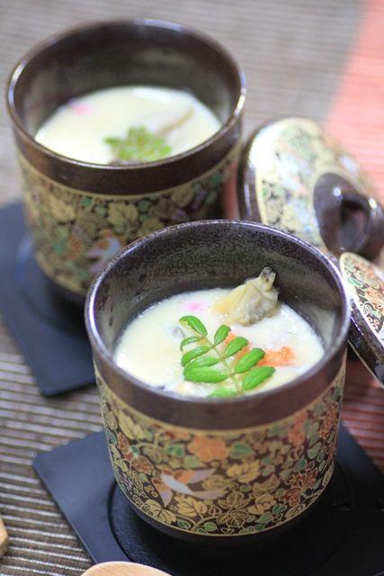 豆乳茶碗蒸し Soy Milk Chawanmushi (Savory Steamed Egg Custard)