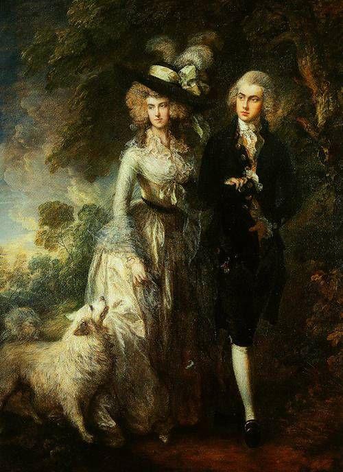 Mr and Mrs William Hallett ('The Morning Walk')  1785, Thomas Gainsborough