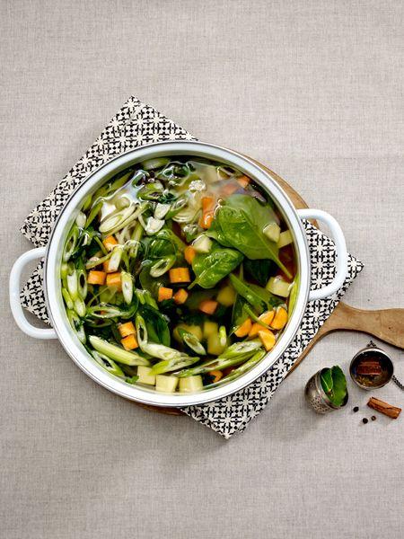 SuppendiätSie wollen so schnell wie möglich 5 Kilo abnehmen - aber ohne Jojo-Effekt? Die Schlanksuppe schmeckt gut, tut gut und ist