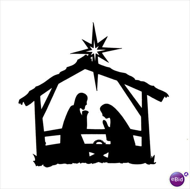 "10 x ""STABLE NATIVITY"" SILHOUETTE CHRISTMAS DIE CUTS IN BLACK on eBid ..."