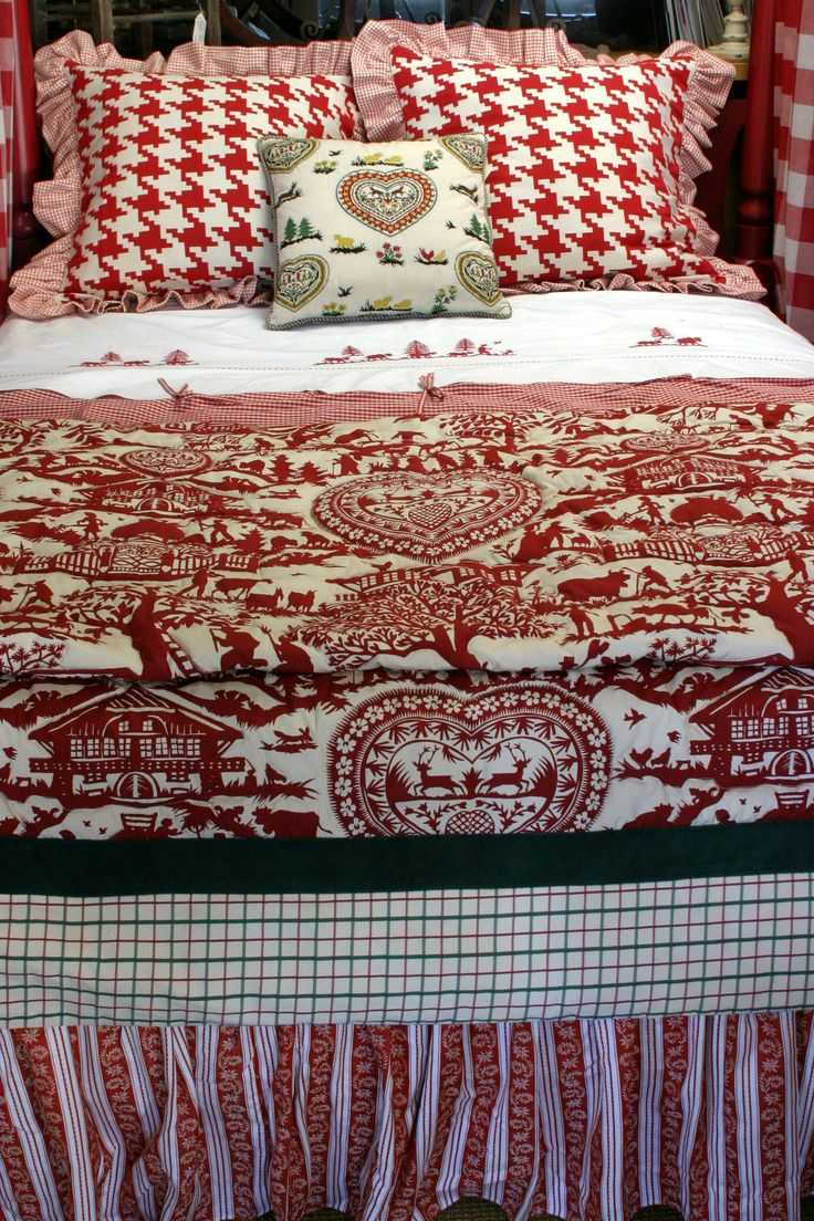Dragonfly Designs Custom Bedding with Pierre Frey fabrics and custom bed