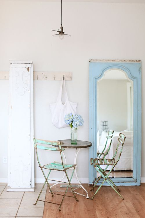 Paint Door Downstairs Add Cool Mirror Lean Against New