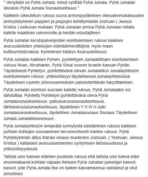 """(75) Jukka Niemi - """" Veriylkäni on Pyhä Jumala, minut vyöttää Pyhä..."""
