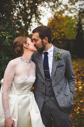 Loving this vintage inspired wedding. Beautiful dress and grey and navy suit featured on TahoeUnveiled.com today