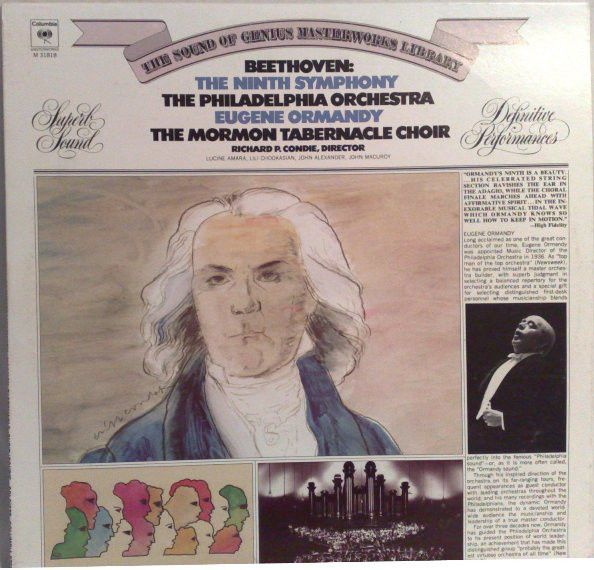 Beethoven* / Eugene Ormandy / The Philadelphia Orchestra / The Mormon Tabernacle Choir* - Symphony No. 9 In D Minor, Op. 125 (Vinyl, LP, Album) at Discogs