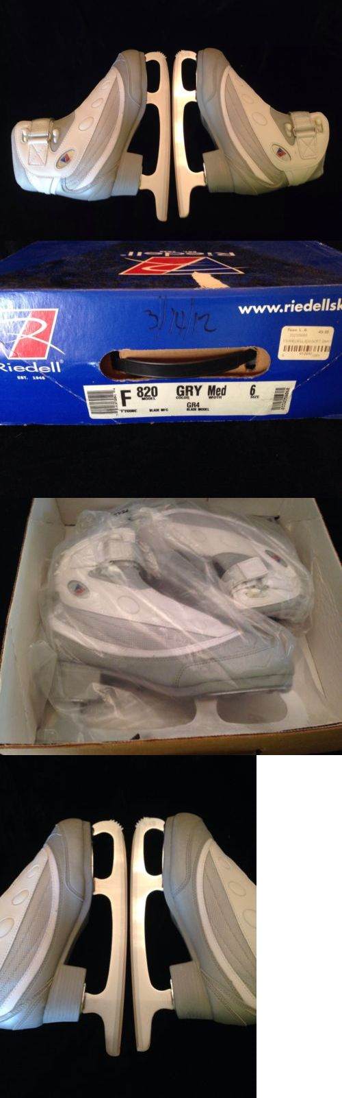 Youth 26344: New Pair Of New Riedell Model F #820 Figure Ice Skates Size 6 Blade Gray White BUY IT NOW ONLY: $45.0