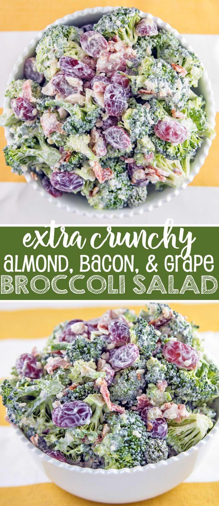 Extra Crunchy Broccoli Salad: easy summer picnic b…