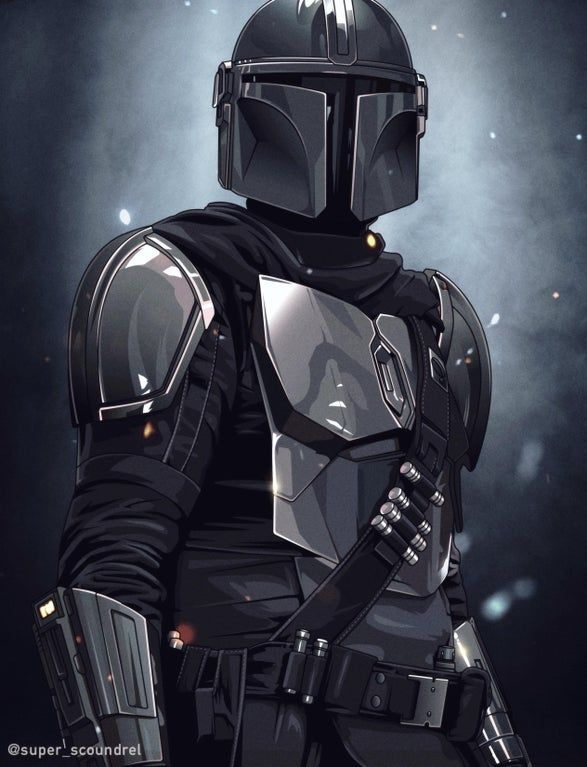 My Portrait Of The Mandalorian Starwars Star Wars Wallpaper Star Wars Images Star Wars Background