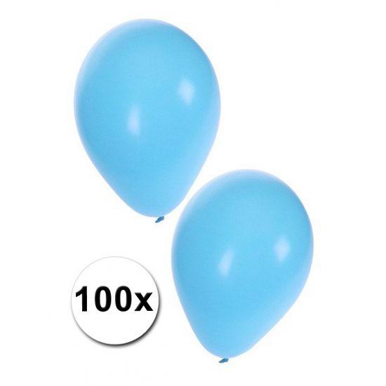 100 lichtblauwe decoratie ballonnem  Ballonnen in het lichtblauw 100 stuks. Deze lichtblauwe ballonnen zijn opgeblazen circa 27 cm groot. Deze lichtblauwe ballonnen zijn te vullen met helium of lucht. Deze baby blauwe ballonnen zijn perfect voor het versieren van het huis bij de geboorte van een jongen.  EUR 9.95  Meer informatie