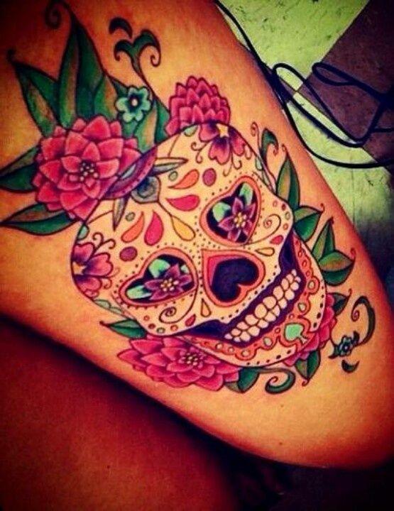 25 best ideas about pretty skull tattoos on pinterest for Pretty skull tattoos