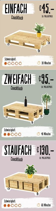 Simply build furniture from pallets yourself