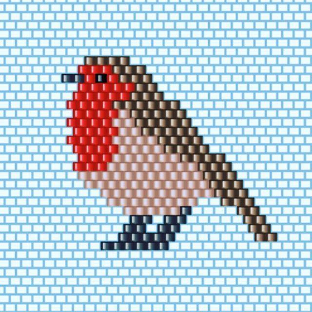 @zouktine @brinou @dzanelli voici la grille pour le tissage brick stitch du…