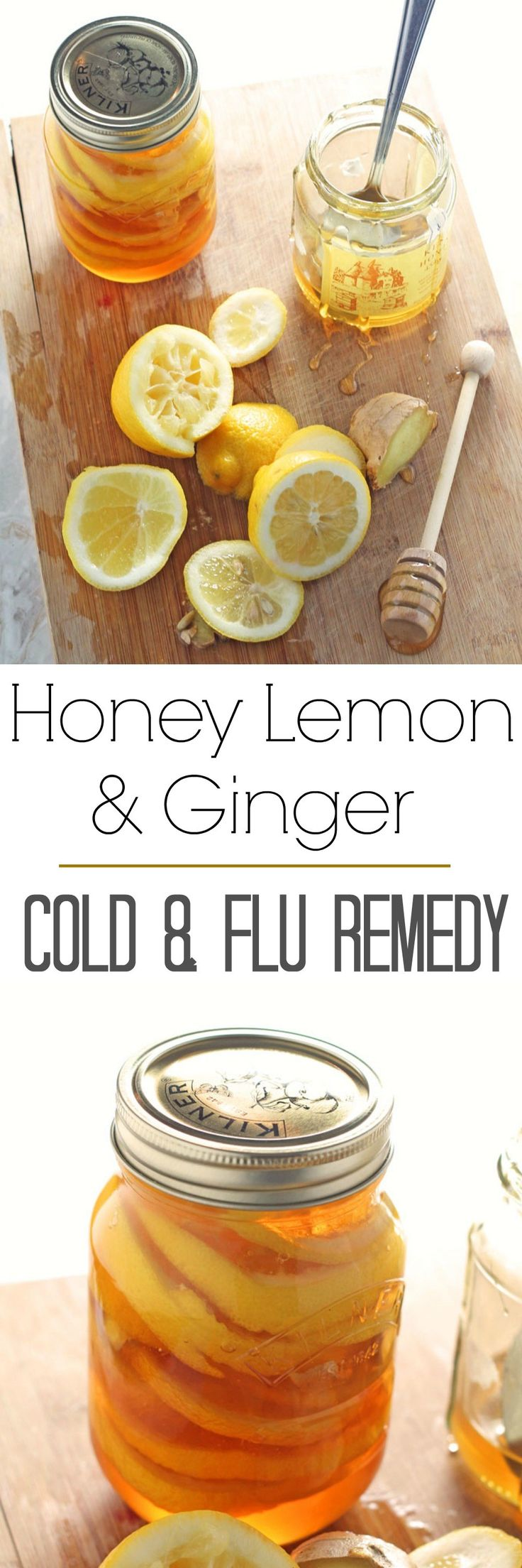 A simple homemade cold and flu remedy of Honey Lemon
