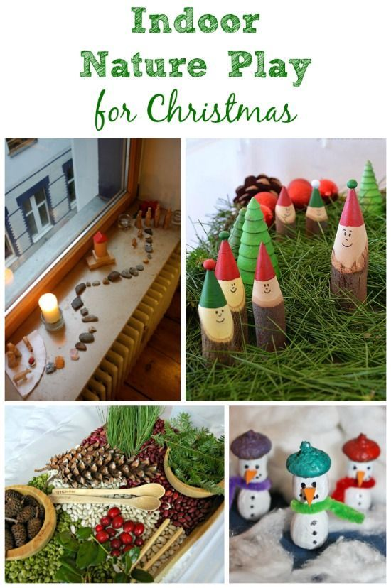 Fun ways to bring nature inside for Christmas play! Simple indoor activities for those cold days.