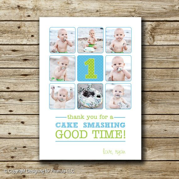 9 best First Birthday Thank You Cards images on Pinterest Birthday