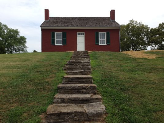 Renovated Rankin House tells story of slaves running to freedom. Photo: The Rankin House has undergone a complete restoration, including a new roof, shutters, painted to the original brownish red, and the elimination of a period-inaccurate portico over the front door. The Enquirer/Jeff Suess