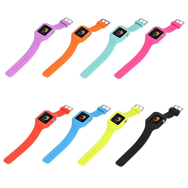 Colorful Replace Watch Strap Suitable for iwatch Replacement Strap Integrated Silicone Replacement Strap for Apple Sport Watch #Affiliate