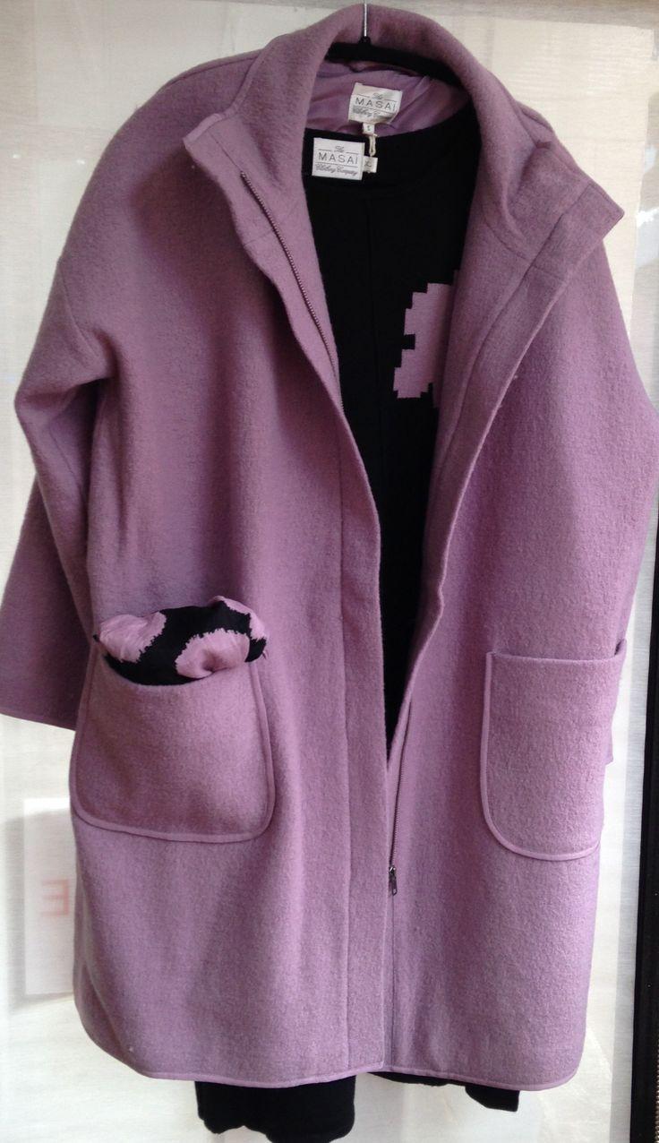 Fabulous wool coat from MASAI.  Gorgeous colour.  Easy shape.