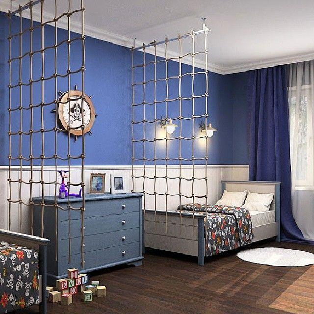 Детская комната в морском стиле: 15 фото
