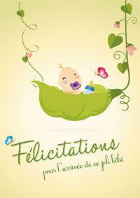 Félicitations pour l'arrivée de ce joli bébé ! http://www.dromadaire.com/carte-papier/cartes-felicitation-naissance