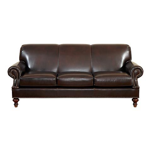 HGTV HOME Custom Classics Sofa - Leather #bassettfurniture #sofa