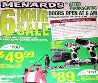 Get Menards Black Friday 2013 deals on hblackfridaydeals.com