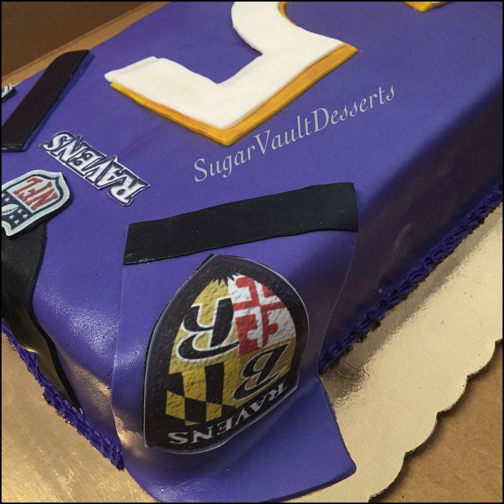 Football Jersey Cake| Baltimore Ravens