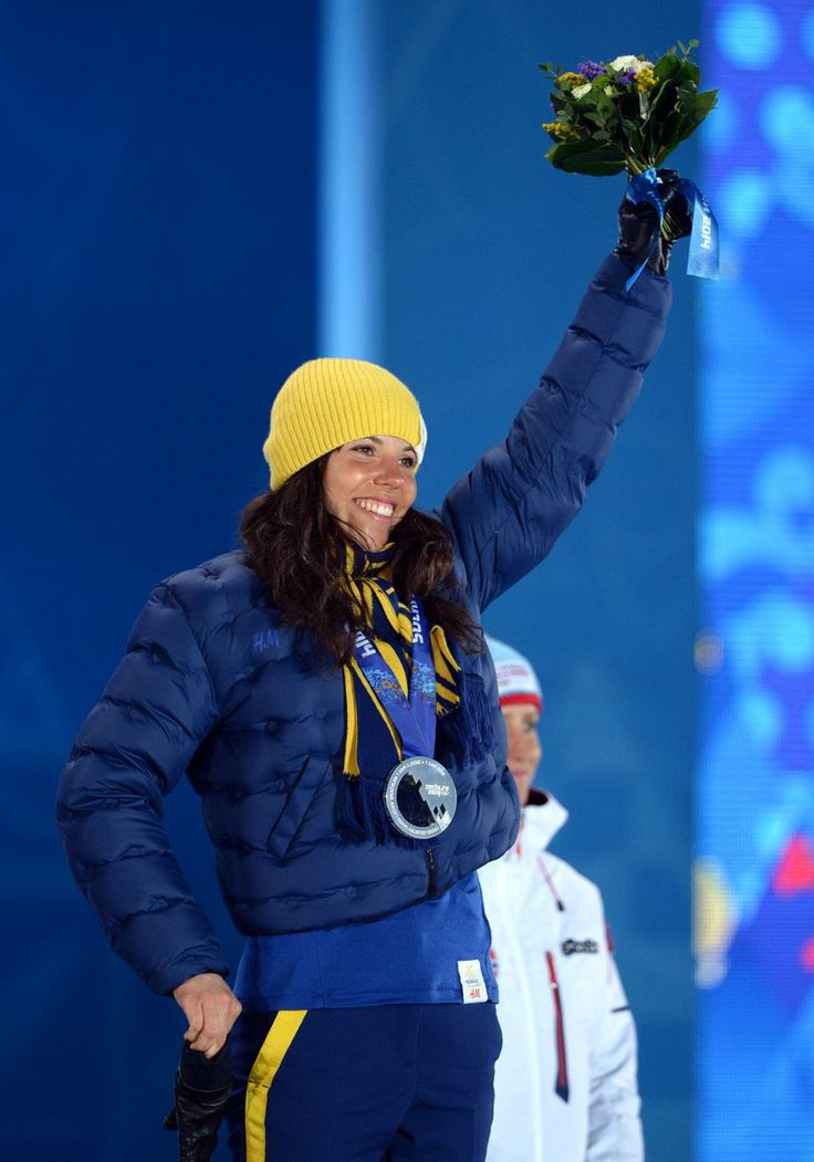 CROSS COUNTRY LADIES' 10km CLASSIC:  Silver medalist Charlotte Kalla of Sweden