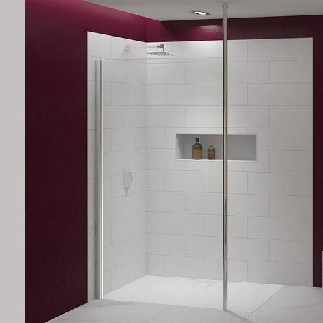 Merlyn 8 Series Wetroom Panel with Vertical Post
