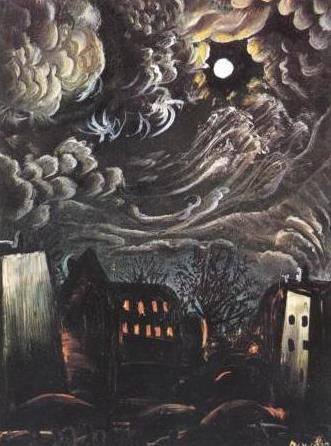 "Otto Dix (German, 1891–1969) ""Night over the City"", 1913. Communicates a sense of doom."