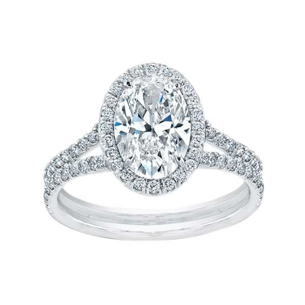 Norman Silverman Oval Diamond Split Shank Pave Engagement Ring. Don't normally like oval cut rings but LOVE this!