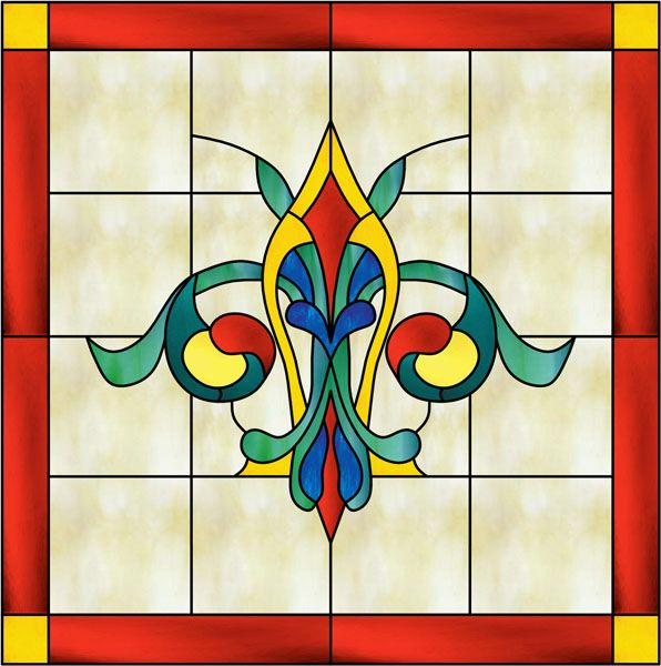 stained+glass+patterns | pattern 019 decorative window film stained glass window films and ...