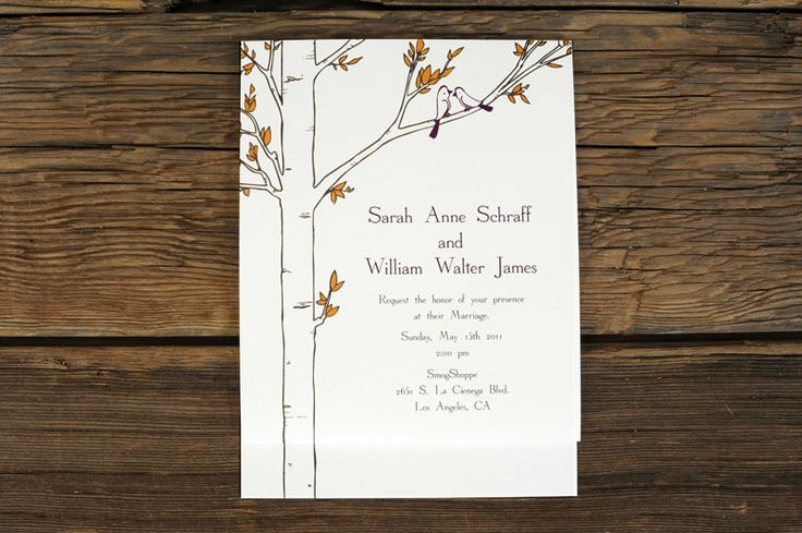 Aspen Tree Spring Wedding Invitations