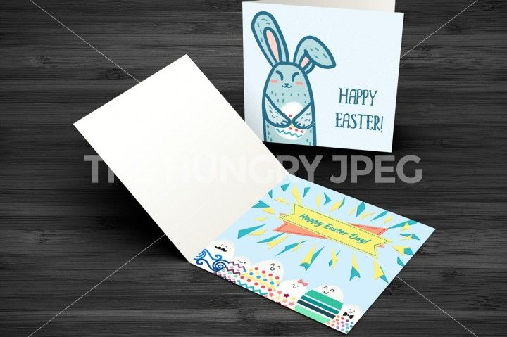 12 Vector Happy Easter Greetings With Rabbits And Eggs