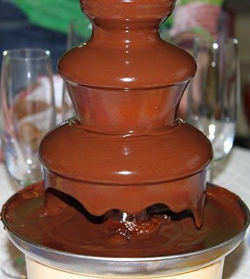 Me Encanta el Chocolate: Receta Fuente de Chocolate