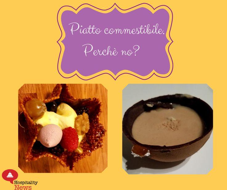 Consigli per vendere il dessert al ristorante 2. Piatto commestibile: perchè no?#restaurantmarketing www.hospitalityne...