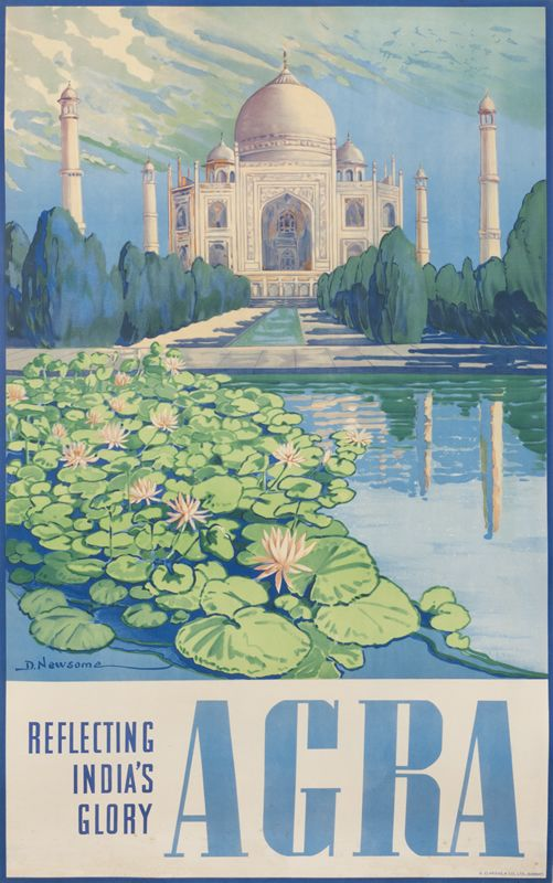 Vintage Travel Poster - Agra - Reflecting India's Glory - 1930.