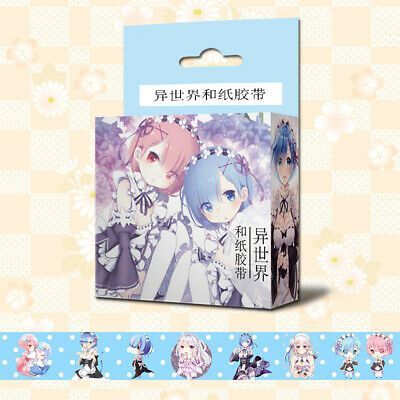 Anime Rem & Ram Re Zero Cosplay DIY Paper Maksing Washi Tape Stickers #affilink …