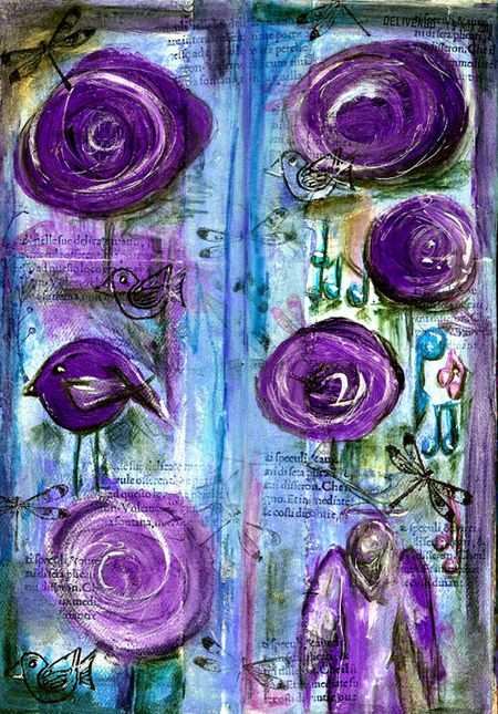 Great journal pages. Must try these flowers