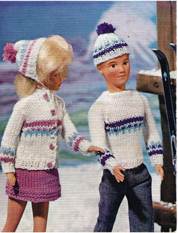 Free Knitting Patterns For Ken Doll Clothes : 1000+ images about Barbie, Sindy and Ken dolls clothes - Knitting and Crochet...