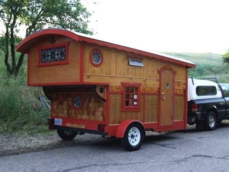 Love this homemade camper.