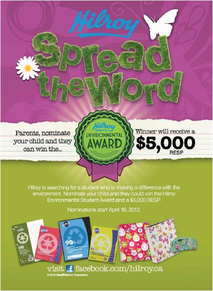 """Acco Brands - Hilroy """"Spread The Word"""" Magazine Ad"""