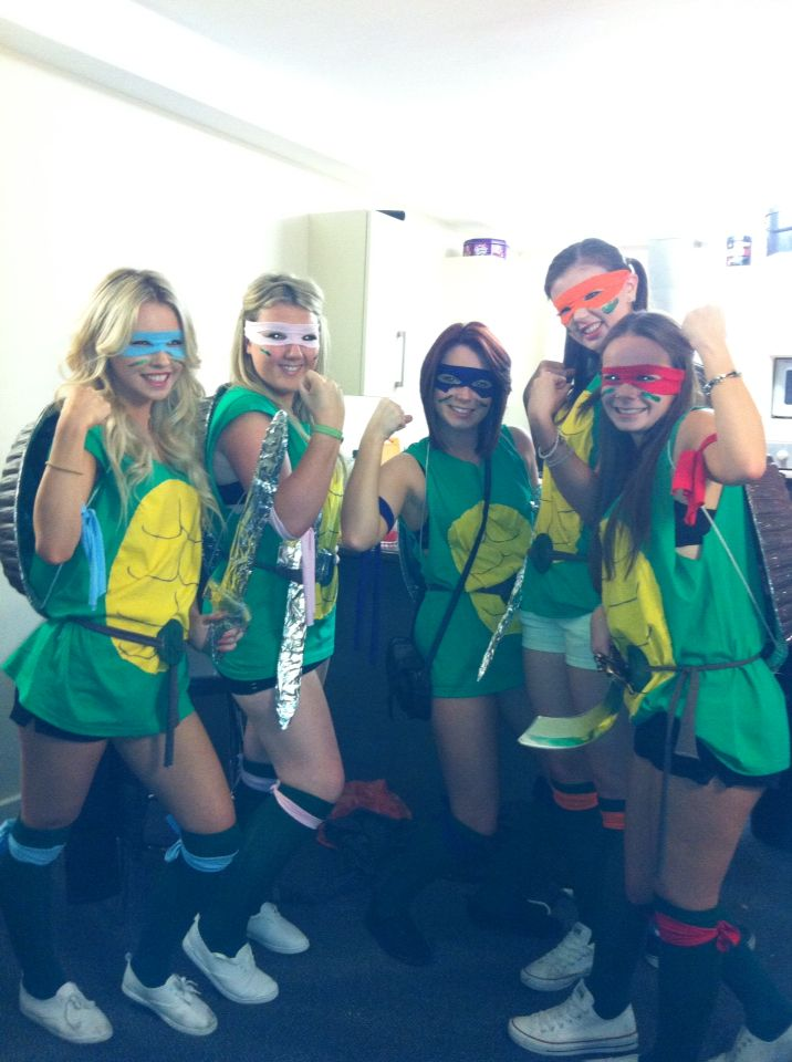Teenage Mutant Ninja Turtles TMNT Halloween Group Fancy Dress Costume