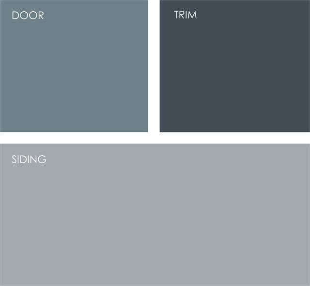 Benjamin Moore: Normandy 2129-40, Blue Note 2129-30 and Shadow Gray 2125-40.