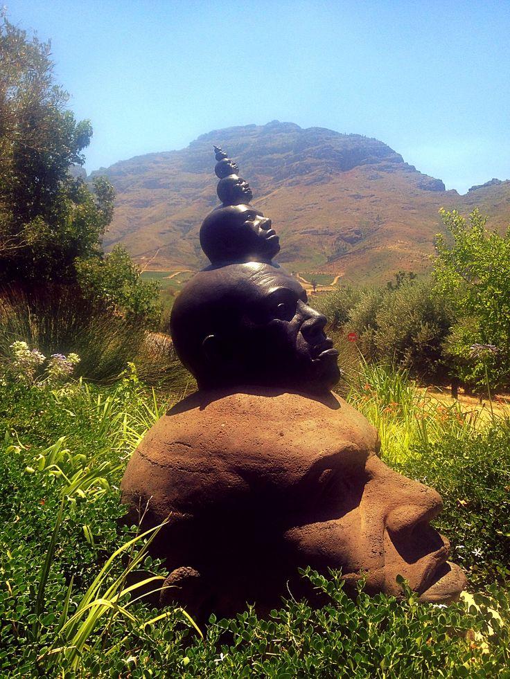 Sculpture in the garden at Tokara