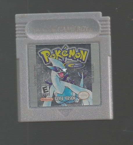 Pokemon Silver Version Nintendo Game Boy Color No Save Advance SP Gameboy