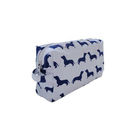 Dachshund Cosmetic Bag! $24.95 from www.kellyandsam.com.au #dogfashion