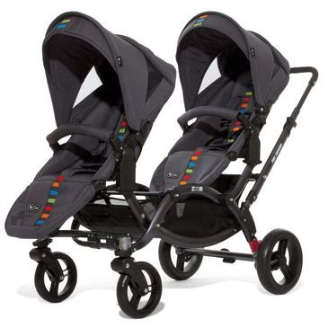 ABC-Design Zoom Twin Tandem Pram. The ABC-Design Zoom Twin Tandem Pram is only 63cm's wide, making it as narrow as a single stroller.