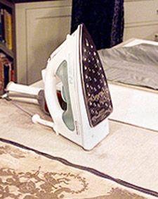 Tips for ironing velvet.