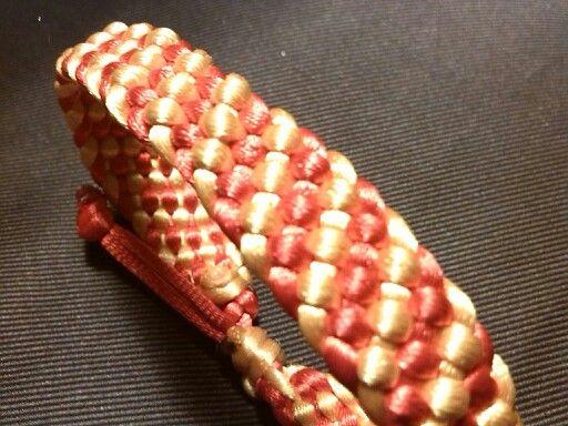 Trenzado plano bicolor en cola de ratón.